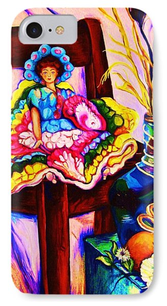 Her Little Parasol Phone Case by Carole Spandau