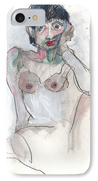 IPhone Case featuring the painting Her - Self Portrait by Carolyn Weltman