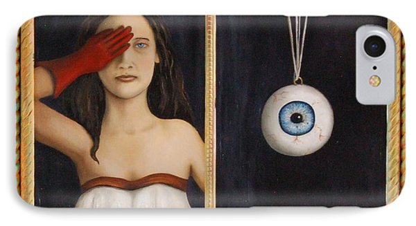 Her Wandering Eye Phone Case by Leah Saulnier The Painting Maniac