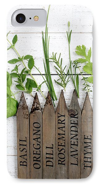 IPhone Case featuring the photograph Herb Garden by Rebecca Cozart