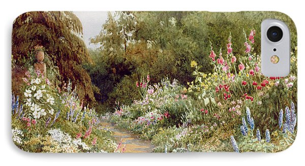 Herbaceous Border  IPhone Case by Evelyn L Engleheart