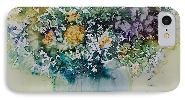 IPhone Case featuring the painting Herbal Bouquet by Joanne Smoley