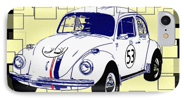 Herbie The Love Bug Phone Case by Bill Cannon