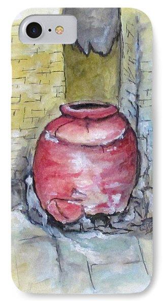 Herculaneum Amphora Pot IPhone Case by Clyde J Kell