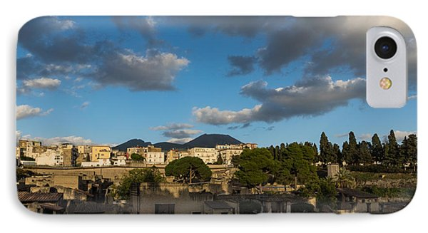 Herculaneum - Dramatic Sky And Shadows Evoke The Ancient Eruption Disaster IPhone Case