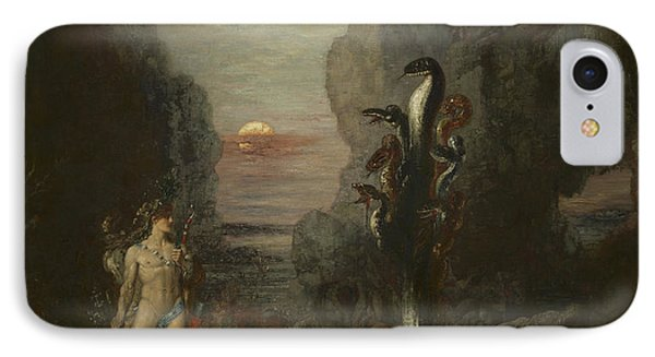 Hercules And The Lernaean Hydra IPhone Case by Gustave Moreau