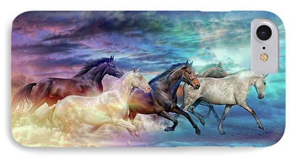 Herd Of Horses In Pastel IPhone Case by Lilia D