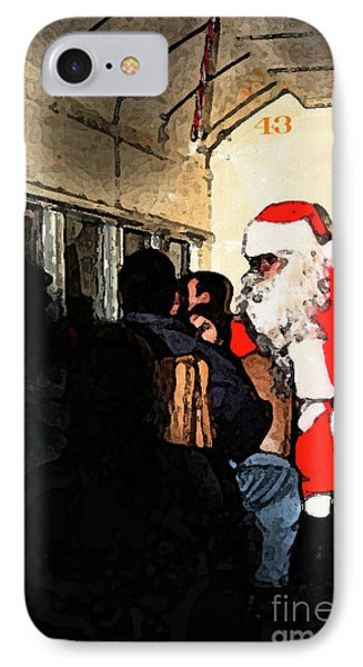 IPhone Case featuring the photograph Here Come Santa by Kim Henderson