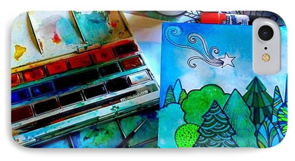 Here Is My Newest Watercolor And Ink IPhone Case by Robin Mead