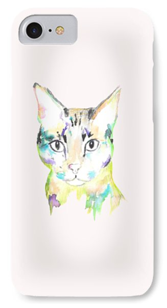 Here Kitty T-shirt IPhone Case by Herb Strobino