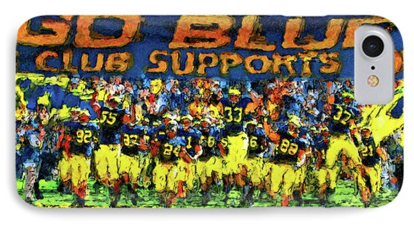 University Of Michigan iPhone 7 Case - Here We Come by John Farr