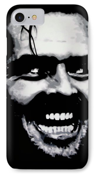 Heres Johnny IPhone Case by Luis Ludzska