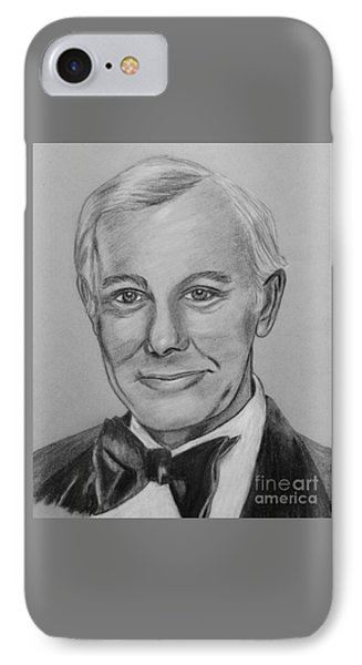 Johnny Carson iPhone 7 Case - Here's Johnny by Sharon Ackley