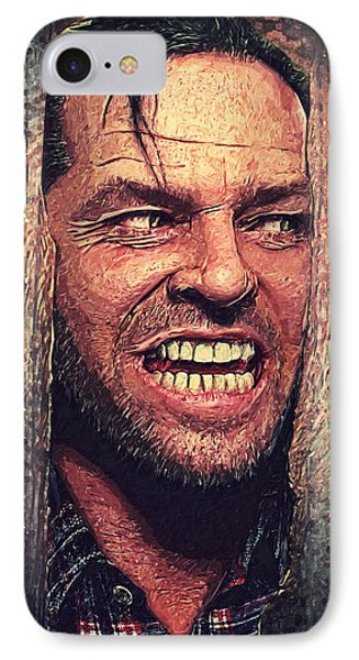 Here's Johnny - The Shining  IPhone Case by Taylan Apukovska