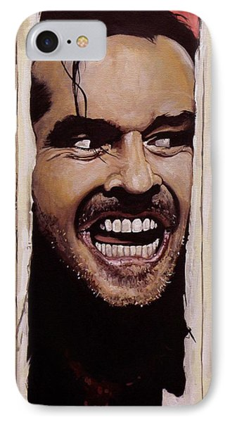 The iPhone 7 Case - Here's Johnny by Tom Carlton