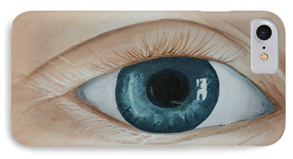 IPhone Case featuring the painting Heres Looking At You by Betty-Anne McDonald
