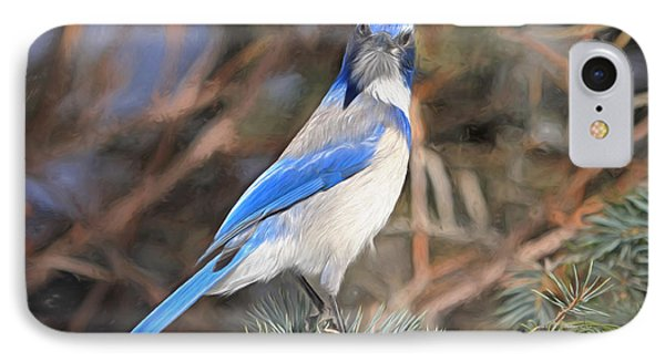 Bluejay iPhone 7 Case - Here's Looking At You,  Kid by Donna Kennedy