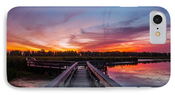 IPhone Case featuring the photograph Heritage Boardwalk Twilight by Chris Bordeleau