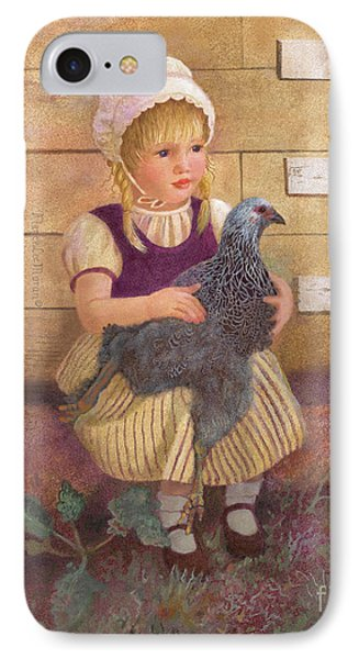 IPhone Case featuring the painting Heritage Hen Brahma Chicken by Nancy Lee Moran