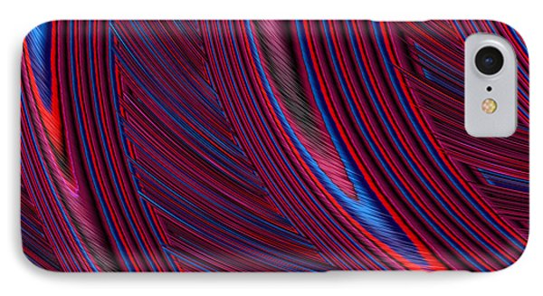 Herl In Red And Blue IPhone Case by John Edwards