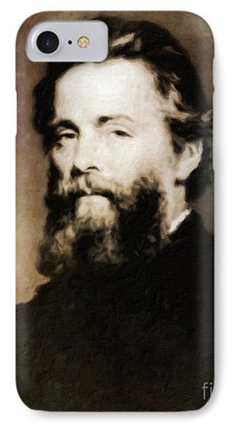 Herman Melville, Literary Legend By Mary Bassett IPhone Case by Mary Bassett