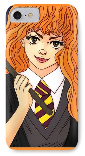 Hermione Granger  IPhone Case by Jennifer Campbell