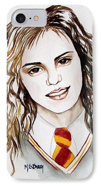 IPhone Case featuring the painting Hermoine Granger by Maria Barry