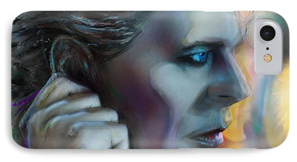 Bowie Heroes, David Bowie IPhone Case by Mark Tonelli