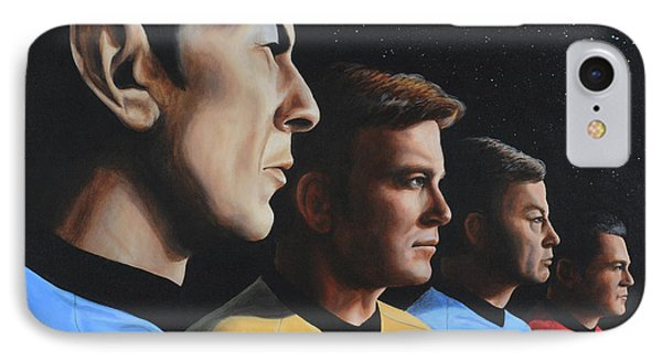 Heroes Of The Final Frontier IPhone Case by Kim Lockman