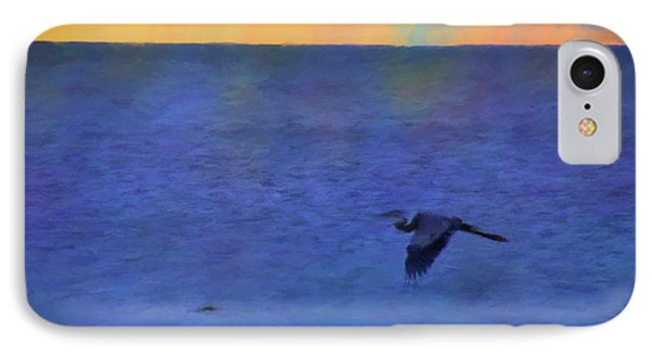 IPhone Case featuring the photograph Heron Across The Sea by Jan Amiss Photography