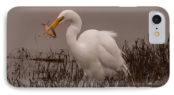 Heron And Fish IPhone Case