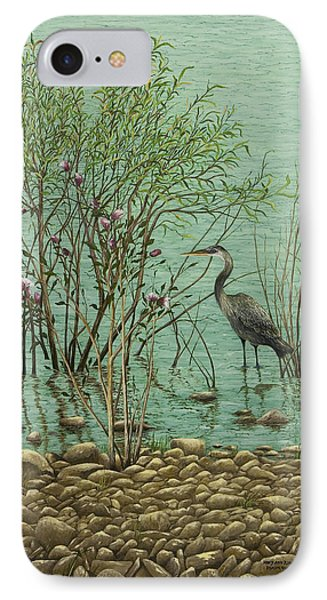 Heron At Crabtree Creek IPhone Case by Mary Ann King