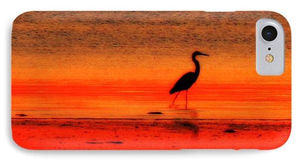 Heron At Dawn IPhone Case