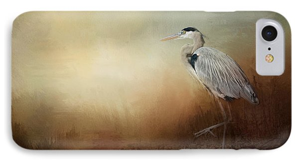 Heron At The Inlet IPhone Case by Jai Johnson