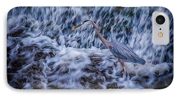 IPhone Case featuring the photograph Heron Falls by Rikk Flohr