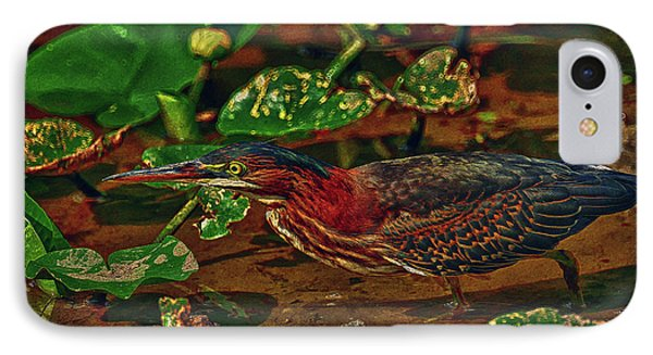 Heron Hdr IPhone Case by Travis Burgess