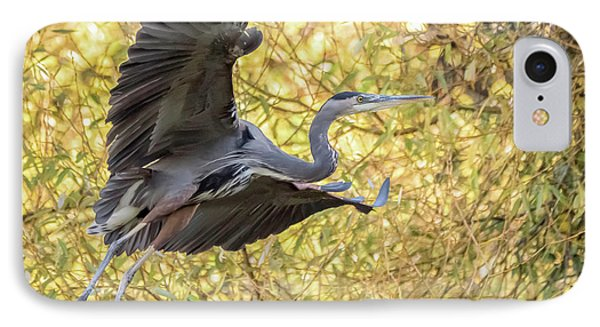 Heron In Flight IPhone Case by Keith Boone