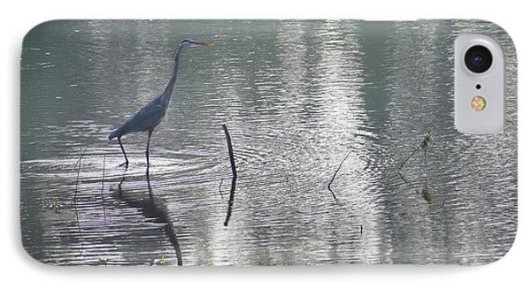 IPhone Case featuring the photograph Heron In Pastel Waters by Skip Willits