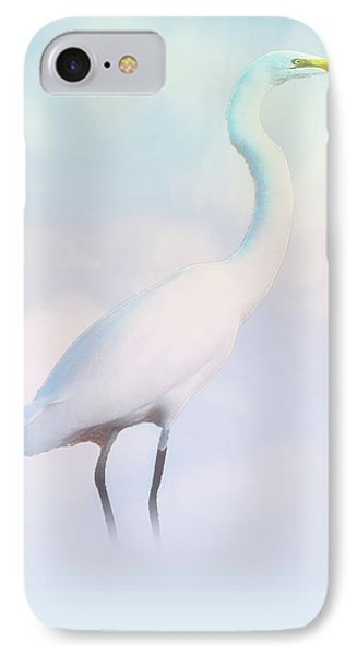 Heron Or Egret Stance IPhone Case by Joseph Hollingsworth