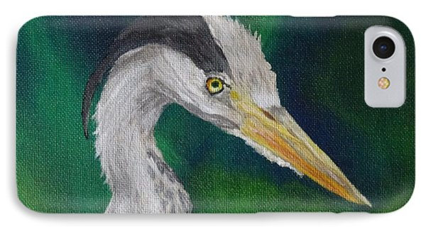 Heron Painting Phone Case by Isabel Proffit