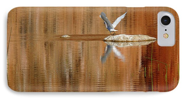 Heron Tapestry IPhone Case by Evelyn Tambour