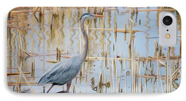 IPhone Case featuring the photograph Heron - Wetlands  by Nikolyn McDonald
