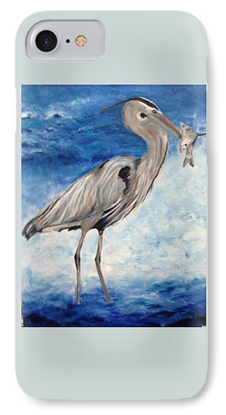 Heron With Fish IPhone Case