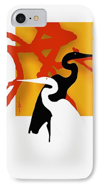 Herons  IPhone Case by Bob Salo