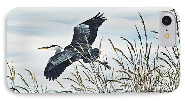 Herons Flight IPhone Case by James Williamson