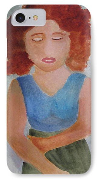IPhone Case featuring the painting Herself by Sandy McIntire