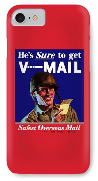 He's Sure To Get V-mail IPhone Case by War Is Hell Store