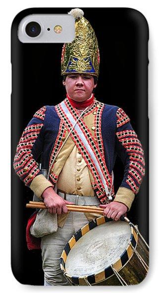 Hessian Grenadier Drummer IPhone Case by Dave Mills