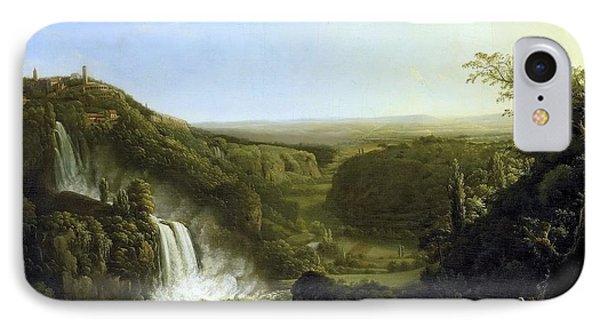 Het Dal Van De Anio Met De Watervallen Van Tivoli IPhone Case by Apostool
