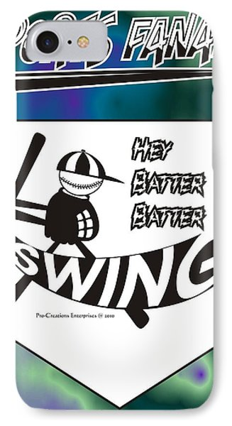 Hey Batter Batter Swing Phone Case by Maria Watt